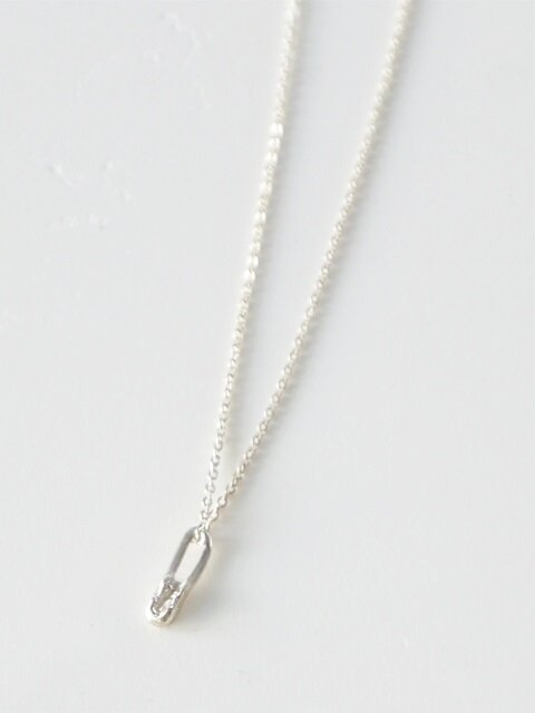 Tiny bone necklace - silver