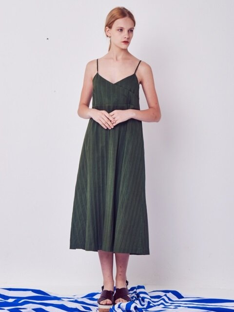 SLIP LONG DRESS(green)