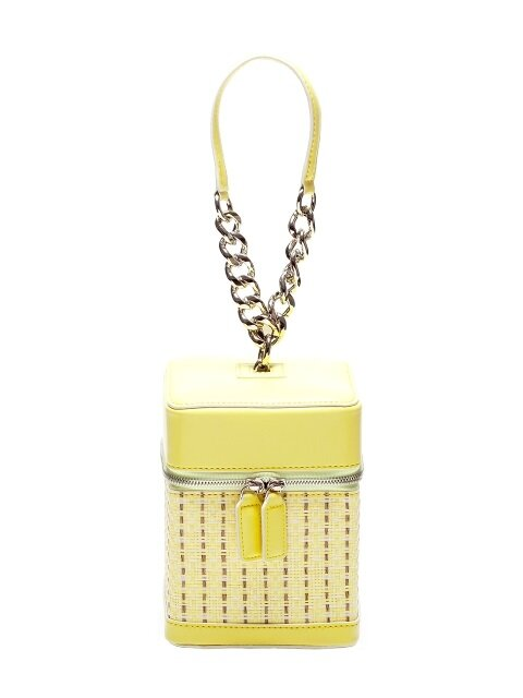 tashiana No.3 petite square bag_rattan pastel yellow