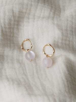 gold circle bubble earrings