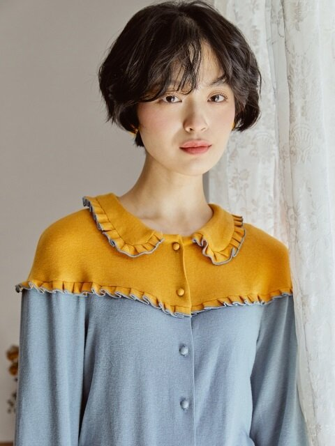 ROCOCO KNIT BLOUSE _ YELLOW