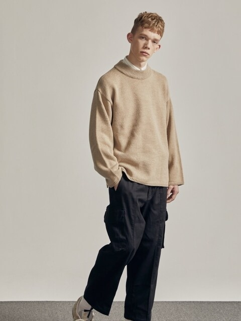 FISHERMAN CREWNECK KNIT (TAN)