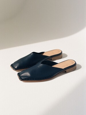 rim045 plain mule (deep navy)