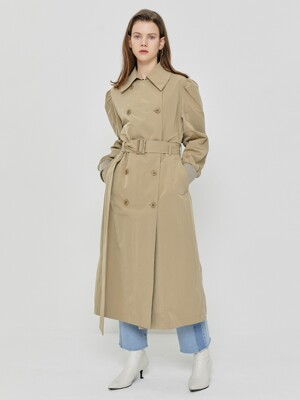 R PUFF SLEEVE TRENCH COAT