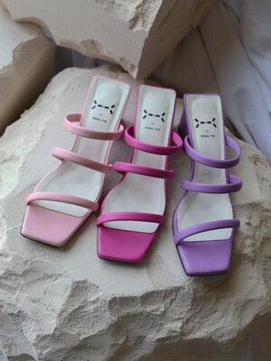 Sugar string mules 6cm / YY7S-S11 (7 colors)