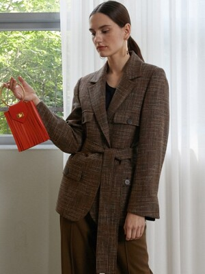 TWEED POCKET JACKET -  BR