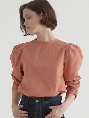 2 way volume blouse - Salmon