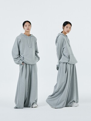 UNISEX AMU EMPHASIZED WIDE PANTS