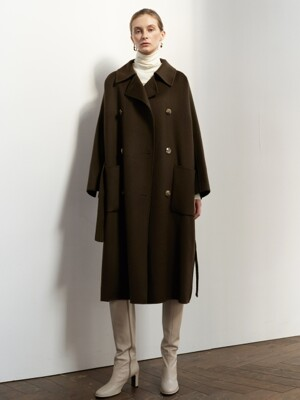 NTW OVERSIZED DOUBLE HAND MADE COAT 3COLOR