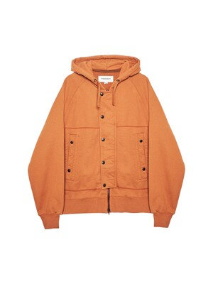 AF HOODED SWEAT JUMPER / BRICK
