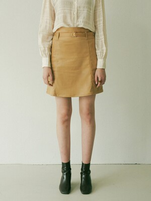monts 1164 High waist suede skirt with belt