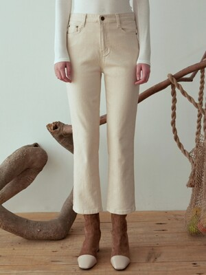 SEMI WIDE STRAIGHT ECRU PANTS_OATMEAL