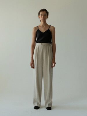 wool blend pants (oatmeal)