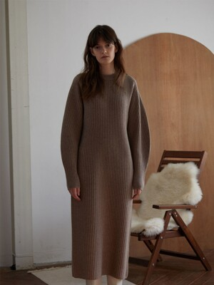 TORSO KNIT DRESS (ALPACA)