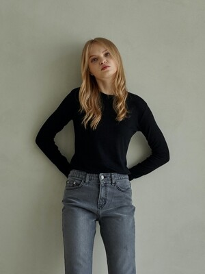 UNIQUE ROUND LONG SLEEVES_BLACK