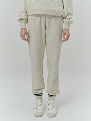 BENSIMON EYE LOGO SWEAT JOGGER PANTS - OATMEAL