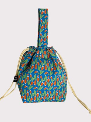 shampoo blue string bag
