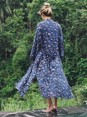 Maxi Robe - Sunset / Navy