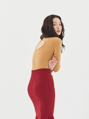 Back Hole Turtleneck(3color)