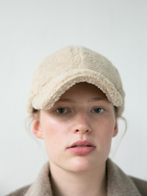 WINTER BALL CAP_BEIGE