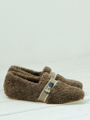 lamb fur loafer_brown