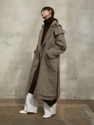 DOUBLE QUILTED PADDING COAT [CHECK]