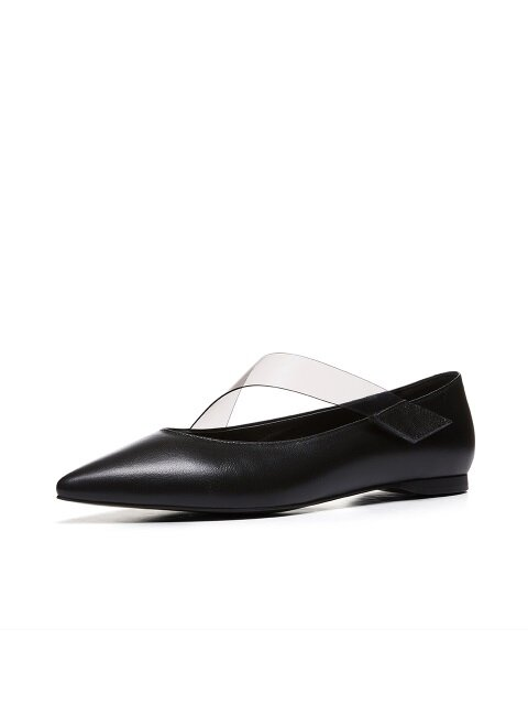 Clear Velcro Flat-Shoes_MM021_BK