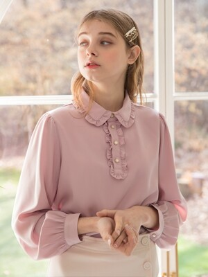 Spring Frill Blouse Pink