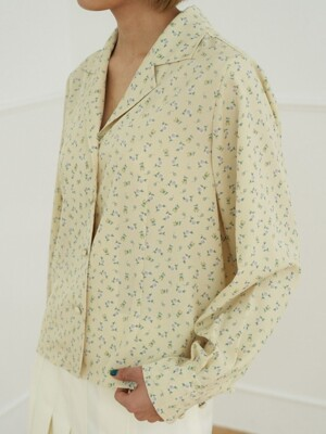 milk flower blouse_butter yellow