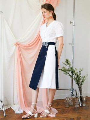 st color p cotton skirt NA
