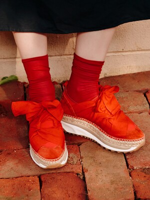 CHUNKY ESPADRILLE SNEAKERS_RED