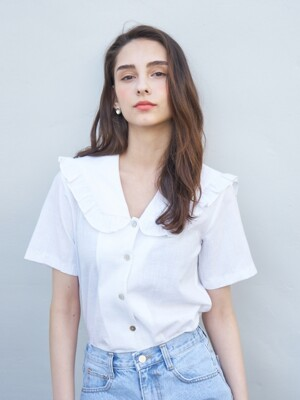 LINEN SAILOR SHIRT WHITE