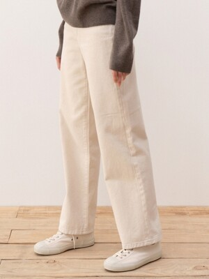 LE signature pants (cream)
