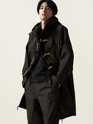 Fishtail Duffle Coat Black