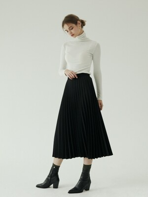 Marianne pleated skirt black