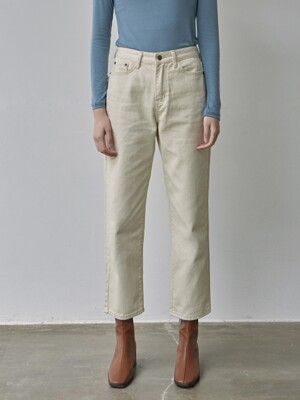COZY COTTON STRAGHIT PANTS_CREAM