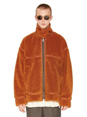 COLLAR SHERPA JACKET orange