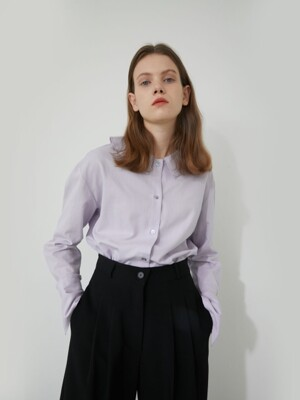 19' WINTER_CROCUS PETAL RUFFLE BLOUSE