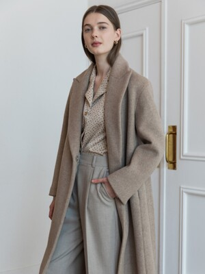 HIDDEN BUTTON LONG COAT_MOCHA BEIGE