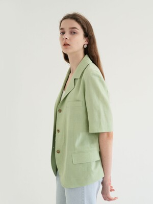 20' SUMMER_Apple Green Short Sleeve Blazer
