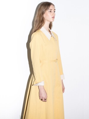[20SS]SANTA MONICA a line classic shirt dress (Honey yellow)