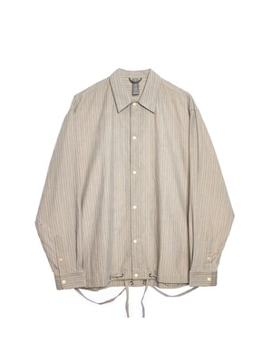 OVERSIZED SHIRT JACKET / BEIGE