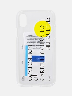 GOUACHE JELLY PHONE CASE (BLACK)