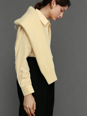 Silk cotton shirt yellow