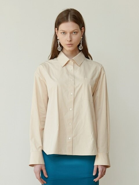 18FW CLASSIC COTTON-BLEND SHIRT (PEACH NUDE)