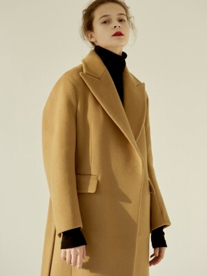 [EXCLUSIVE] 18FW PEAKED COLLAR LONG COAT CAMEL
