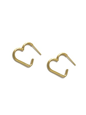 117 Lovely Heart Silver 925 Earring