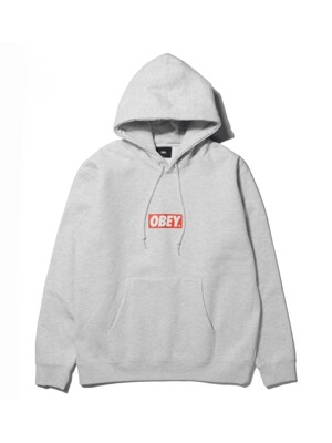 HOODED OBEY BAR LOGO (ASH GREY)