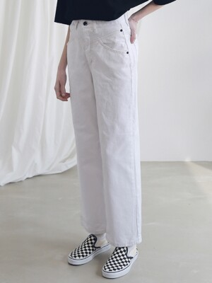 WIDE CHINO PANTS ALP191004-WT