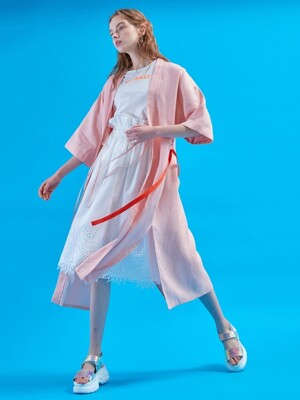 Serenity long robe [Coral cloud]